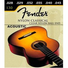 Fender 130 Classical Clear Nylon Ball End