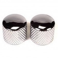 Peavey Guitar Dome Knobs Chrome