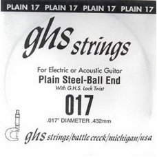 GHS Strings 017 Single Plain Ballend