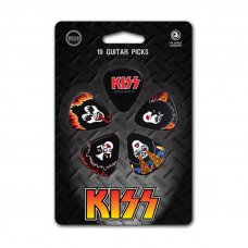 Planet Waves PW1CBK2-10K2 Kiss Picks - Rock n Roll Over Light