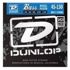 Dunlop DBN45130 Nickel Plated Steel Medium 5 String 45-130