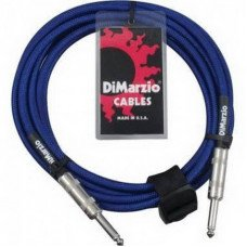 Инструментальный кабель Jack - Jack DiMarzio EP1715SS Instrument Cable 15Ft Electric Blue