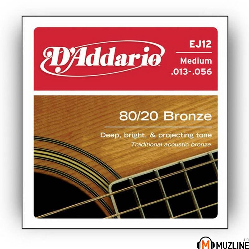D'Addario EJ12 80/20 Bronze Medium 13-56