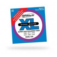 D'Addario EKXl120 Xl Super Light Reinforced 9-42