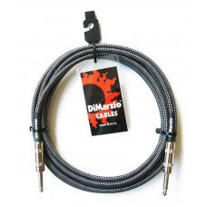 DiMarzio EP1710SS Instrument Cable 10Ft Black Grey