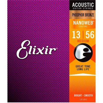 Elixir 16102 Nanoweb Phosphor Bronze Medium 13-56 (PB NW M)