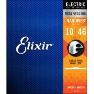 Elixir 12052 Nanoweb Nickel Plated Steel Light 10-46 (EL NW L)