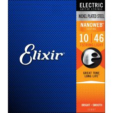 Elixir 12057 Nanoweb Nickel Plated Steel 7-String Light 10-56 (EL NW L 007)