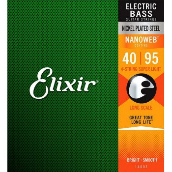 Elixir 14002 Nanoweb Coated Nickel Steel Long Scale 4-Strings Super Light 40-95 (4S NW SL L)