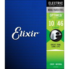 Elixir 19052 Optiweb Nickel Plated Steel Light 10-46 (EL OW L)