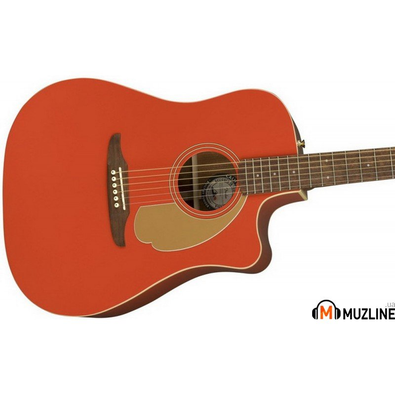 Электроакустическая гитара Fender Redondo Player WN Fiesta Red