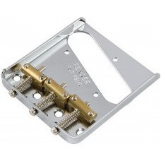 Бридж Fender 3-Saddle American Vintage Telecaster Bridge Assembly With Brass Saddles Chrome