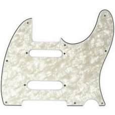 Fender Pickguard For Nashville Series Tele 4 Ply White Moto