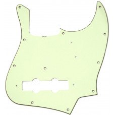 Fender Pickguard Jazz Bass 11-Hole Vintage Mount (With Truss Rod Notch) Mint Green