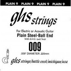 GHS Strings 009 Single Plain Ballend
