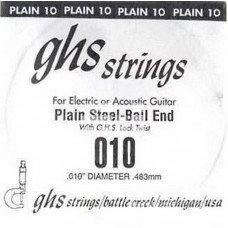 GHS Strings 010 Single Plain Ballend