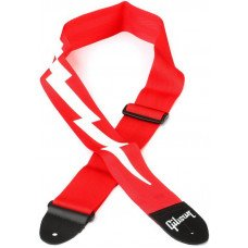 Gibson ASGSBL-20 Lightning Bolt Style 2 Safety Strap - Ferrari Red