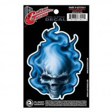 Planet Waves GT77011 Guitar Tatoo, Blue Flame Skull
