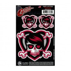 Planet Waves GT77032 Guitar Tatoo, Emo Girl Skull