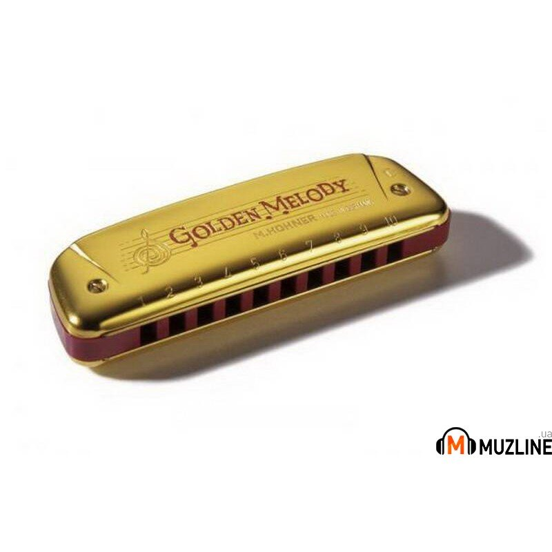 Губная гармошка Hohner Golden Melody Gold C-Major