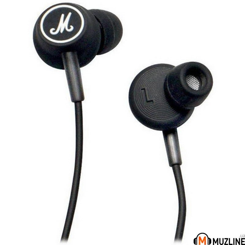 Наушники вкладыши Marshall Mode Headphones Black & Black