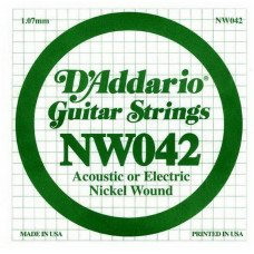 D'Addario NW042 XL Nickel Wound 042