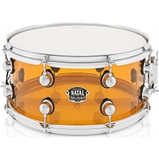 Малый барабан Natal Drums Arcadia Acrylic Snare Drum Transparent Orange