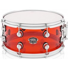 Малый барабан Natal Drums Arcadia Acrylic Snare Drum Transparent Red