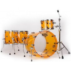 Ударная установка Natal Drums Arcadia Acrylic Transparent Orange