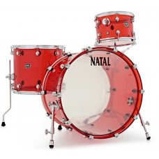 Ударная установка Natal Drums Arcadia Acrylic Transparent Red