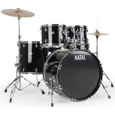 Natal Drums DNA Rock Drum Kit Black Hardware Pack