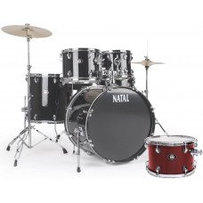 Ударная установка Natal Drums DNA Rock Drum Kit Red Hardware Pack