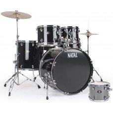 Ударная установка Natal Drums DNA Rock Drum Kit Silver Hardware Pack