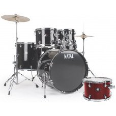Natal Drums DNA US Fusion Drum Kit Red Hardware Pack