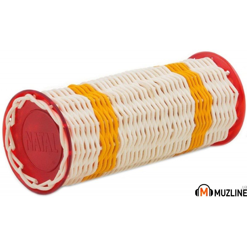 Шейкер Natal Drums Ganza Large Yellow Band Red Ends