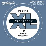 D'Addario PSB145 XL Pro Steels Round Wound Single 145 (одна струна)