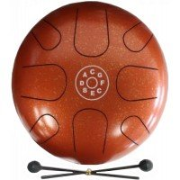 Глюкофон Palm Percussion Metal Tongue Drum 8 Leafs Spot Orange