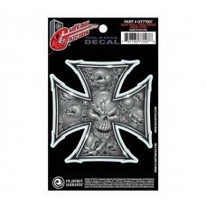 Planet Waves GT77007 Guitar Tatoo, Grey Iron Cross