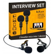 Петличный микрофон PowerDeWise Lavalier Microphone Interview Set