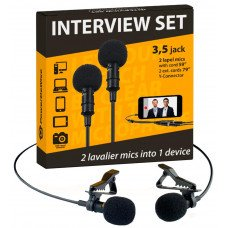 PowerDeWise Lavalier Microphone Interview Set