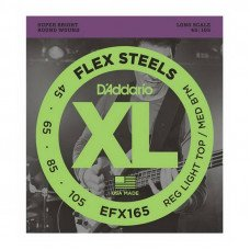 D'Addario EFX165 XL Flex Steels Reg Light Top / Med Bottom 45-105