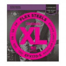 D'Addario EFX170-5 XL Flex Steels Light 5 String 45-130