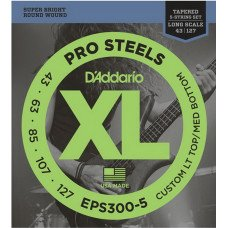 D`ADDARIO EPS300-5 ProSteels, Custom LT Top / MD Bottom, 43-127, Tapered