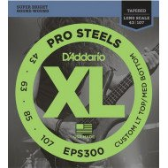 D'Addario EPS300 ProSteels, Custom LT Top / MD Bottom, 43-107, Tapered