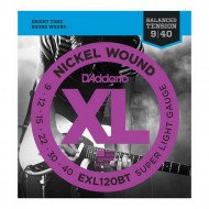 D'Addario EXL120Bt Xl Nickel Balanced Tension, Super Light 09-40