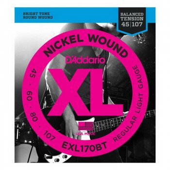 D'Addario EXL170BT XL Balanced Tension Bass Reg Light 45-107