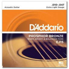 D'Addario EJ15 Phosphor Bronze Extra Light 10-47