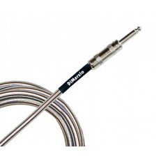 DiMarzio EP1715SSSM Metallic Instrument Cable 15Ft Chrome