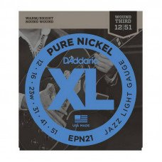 D'Addario EPN21 Xl Pure Nickel Jazz Light 12-51