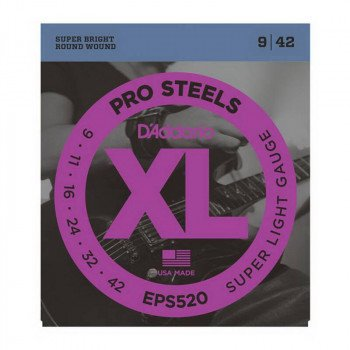 D'Addario EPS520 Xl Pro Steels Super Light 09-42